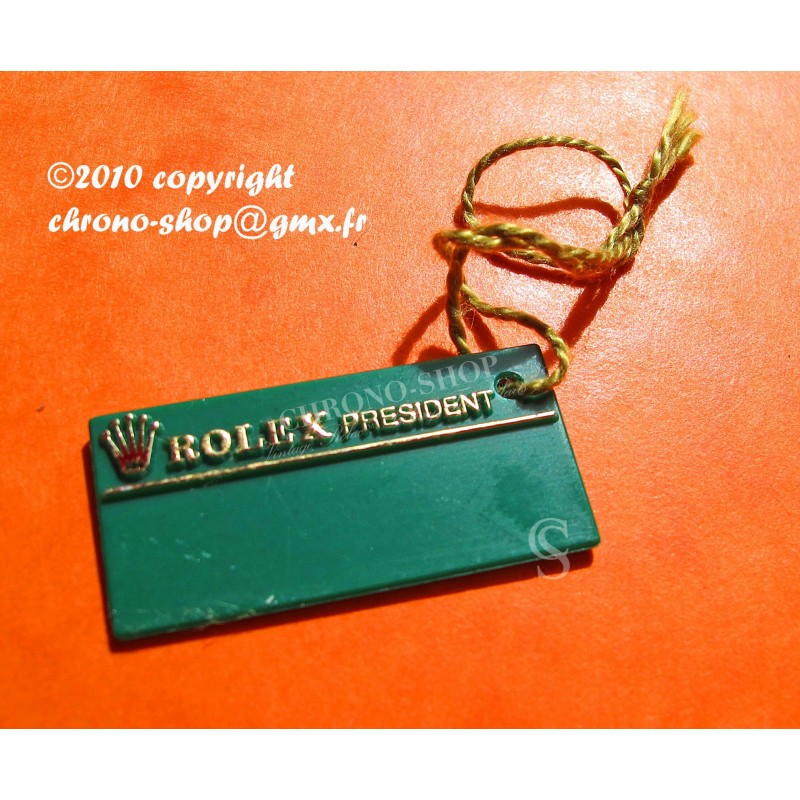 ROLEX PRESIDENT GREEN HANG TAG