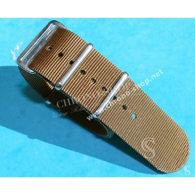 JAMES BOND KHAKI Nylon NATO WATCH BAND Strap Military G-10 BREITLING, IWC, ZENITH, PATEK, TAG HEUER, OMEGA