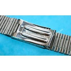 NSA Rare 70's New, NOS Swiss band Bitons & Ssteel Watch Sport Bracelet Zenith, Longines, Heuer 18mm ends