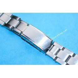 Accessoire Montres Bracelet  Acier 18, 19, 20mm Fixages ressorts Adaptables Générique Vintage type Rolex Hommes maillons rivets