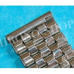 BRACELET VINTAGE 60's MONTRES ACIER PLIE 18/20mm TYPE OMEGA SPEEDMASTER, SEAMASTER MONTRES VINTAGES