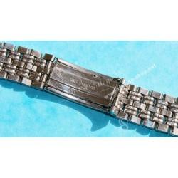 Bracelet 20mm Vintage Montres acier années 60-70 Style jubilée Breitling, Omega, heuer, Tissot, IWC, Jaeger,Patek
