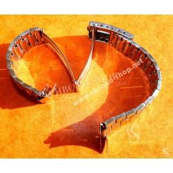 Unsigned flat-link, folded links, 1960s watch Steel band Bracelet for Seamaster 300 Omega Speedmaster