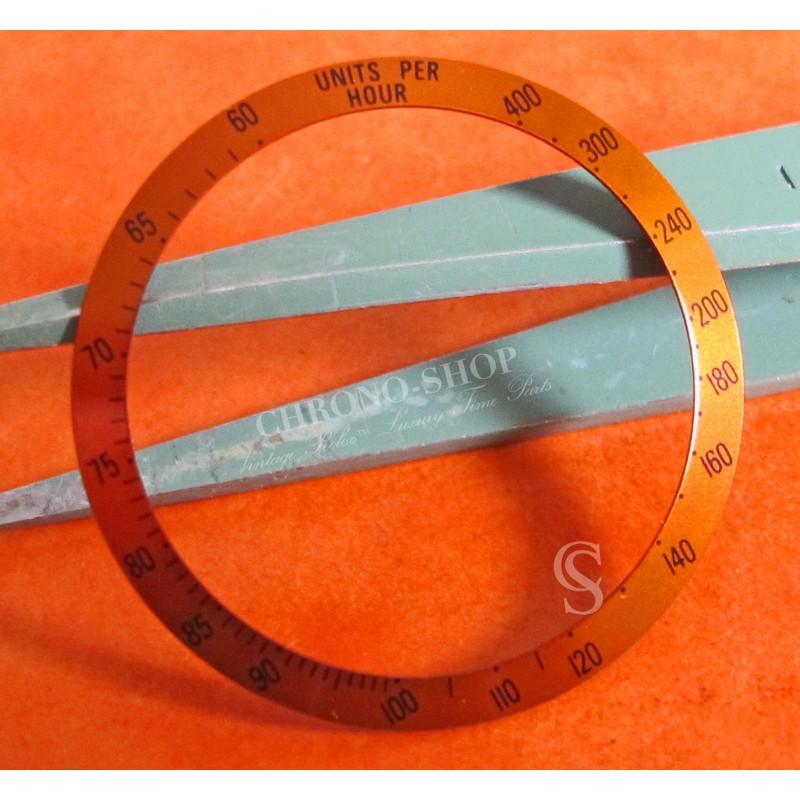 Rare Tudor MONARCH ref 15900 disque insert gradué orange