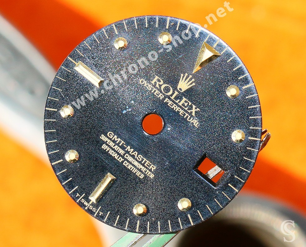 Rolex Magical Sexy Orange Fire GMT MASTER NIPPLE DIAL WATCH VINTAGE 16758, 16753 tutone cal 3075, 3175