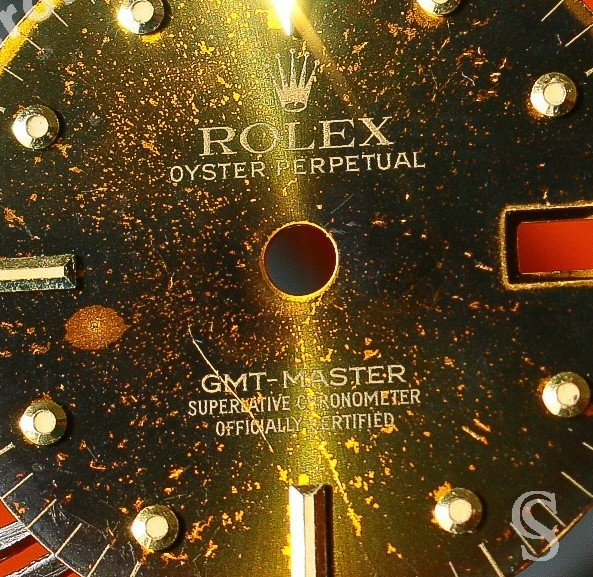 Rolex Magical Sexy Black color GMT MASTER NIPPLE DIAL WATCH VINTAGE 16758, 16753 tutone cal 3075, 3175
