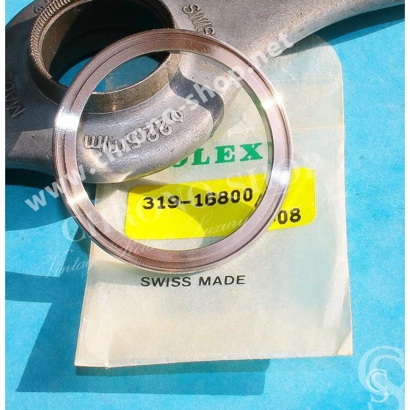 ROLEX ANNEAU DE VERRE & LUNETTE ACIER MONTRES SUBMARINER DATE 16800, 168000, 16610, 16610LV RETAINING GLASS