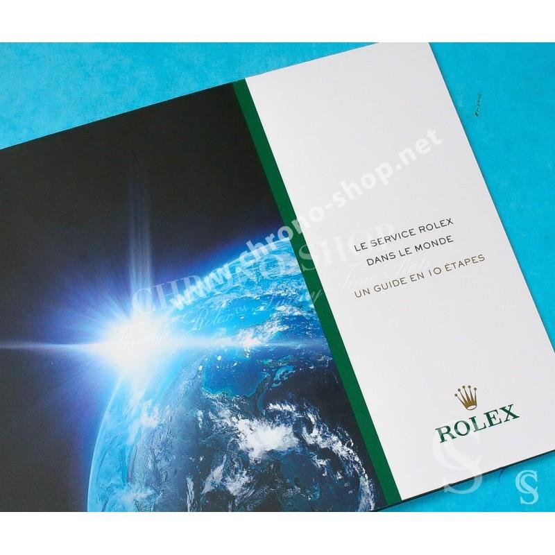 LIVRET MONTRES ROLEX REVISION : LE SERVICE DANS LE MONDE UN GUIDE EN 10 ETAPES, SUBMARINER, GMT, DAYTONA, EXPLORER