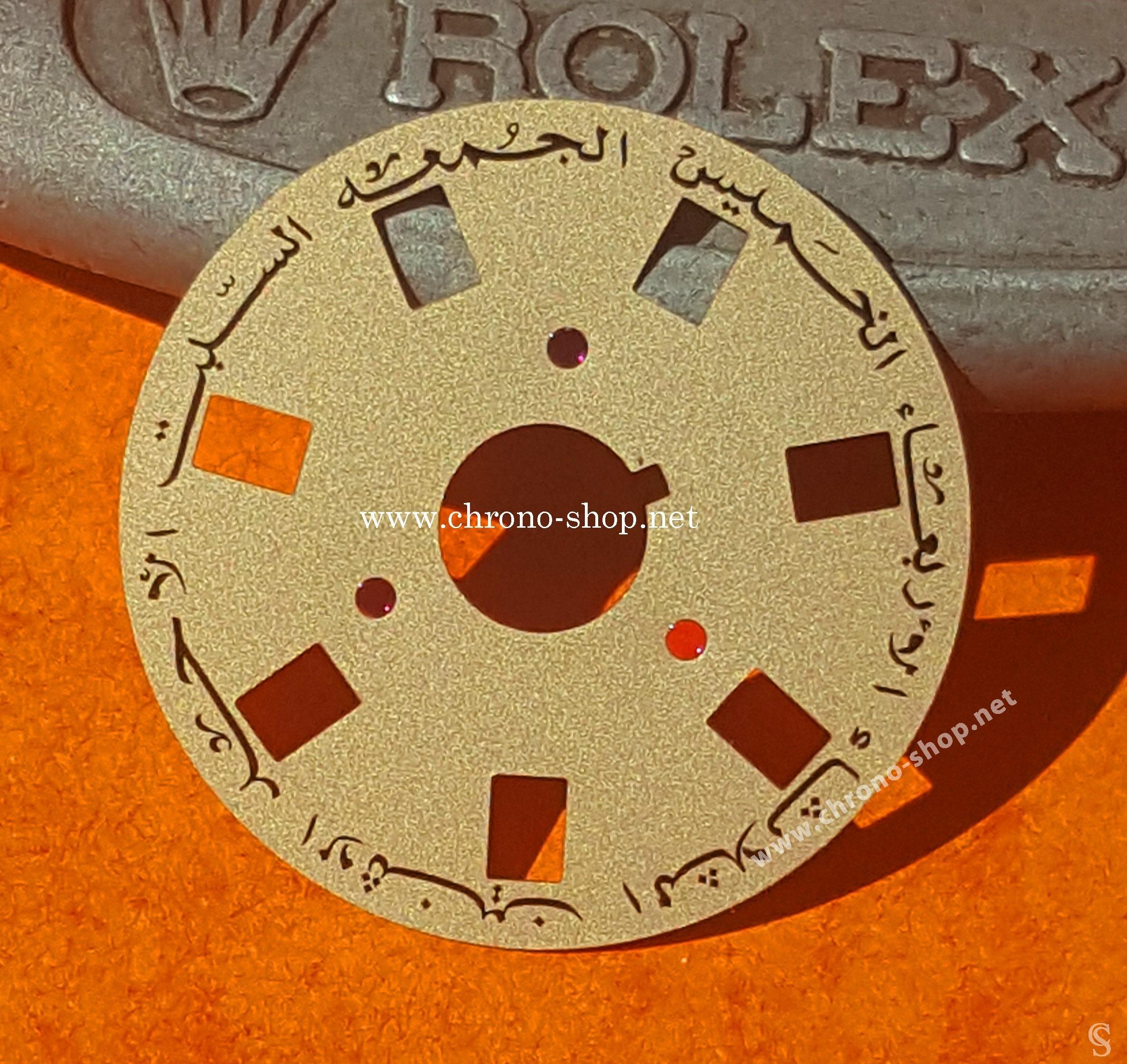 ROLEX FOURNITURE HORLOGÈRE DISQUE DE JOURS ARABES OMAN MONTRES PRESIDENT DAYDATE 1801, 1803, 1807 CAL 1556, 3055