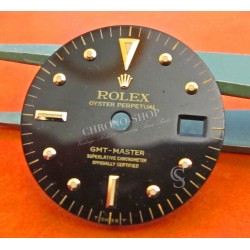 Black Rolex GMT-Master 16753 16758 18k Yellow Gold/Stainless Steel Black Nipple Dial
