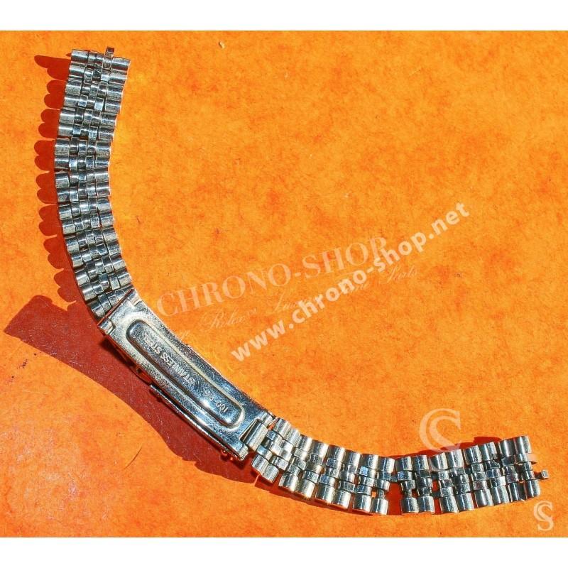 Genuine & Rare Mint 60's Ladies Jubilee Ladies Bracelet 12mm ss folded links stainless steel