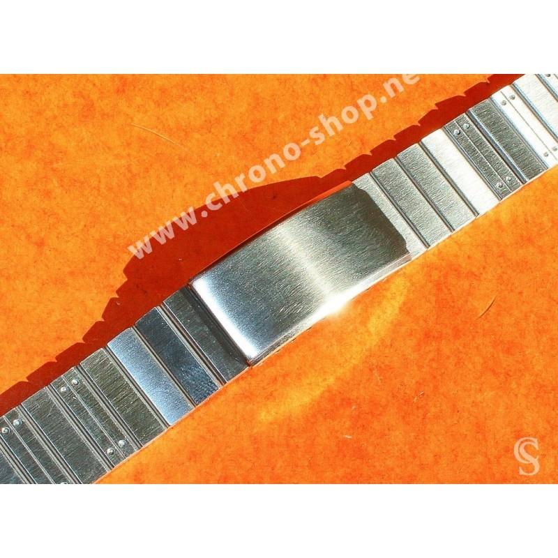 Vintage 70's Bracelet 20mm swiss Made Acier montres anciennes Heuer,Omega,Tissot,Enicar,Universal Genève