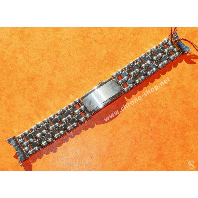 Vintage 70's Bracelet Acier plié Montres 18mm montres vintages ZENITH,Heuer,IWC,Breitling,Movado,Enicar,OMEGA