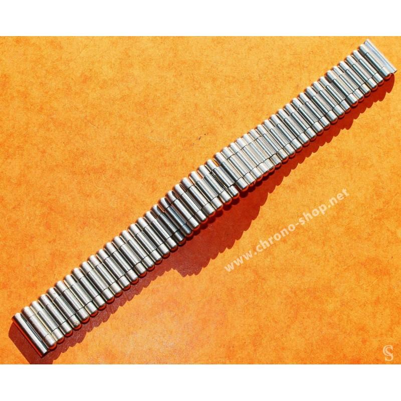 Vintage 70's Bracelet Acier Rouleaux Bullet Montres 18mm montres vintages ZENITH,Heuer,IWC,Breitling,Movado,Enicar,OMEGA