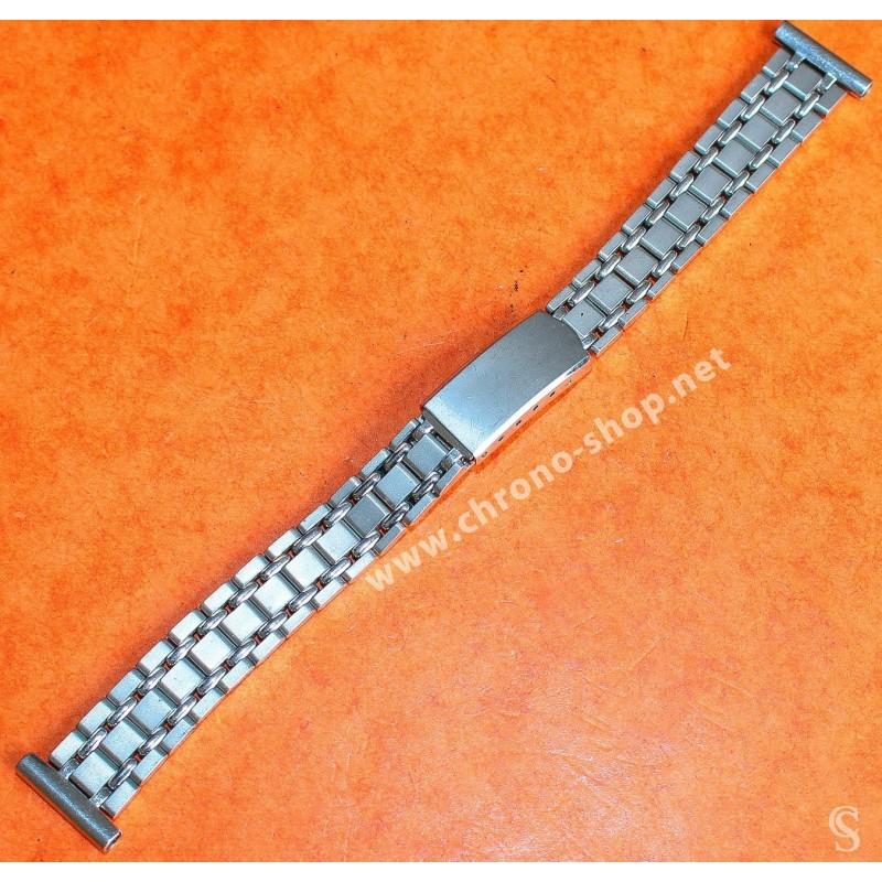 Genuine & Rare 60's Ladies Jubilee Ladies Bracelet 12/13mm ss folded links stainless steel