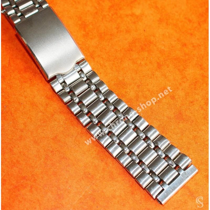 Rare Unsigned Vintage Watch Bracelet 18mm UNIVERSAL GENEVE style calendar chronograph Tri compax ref 881102/02, 881.101/03