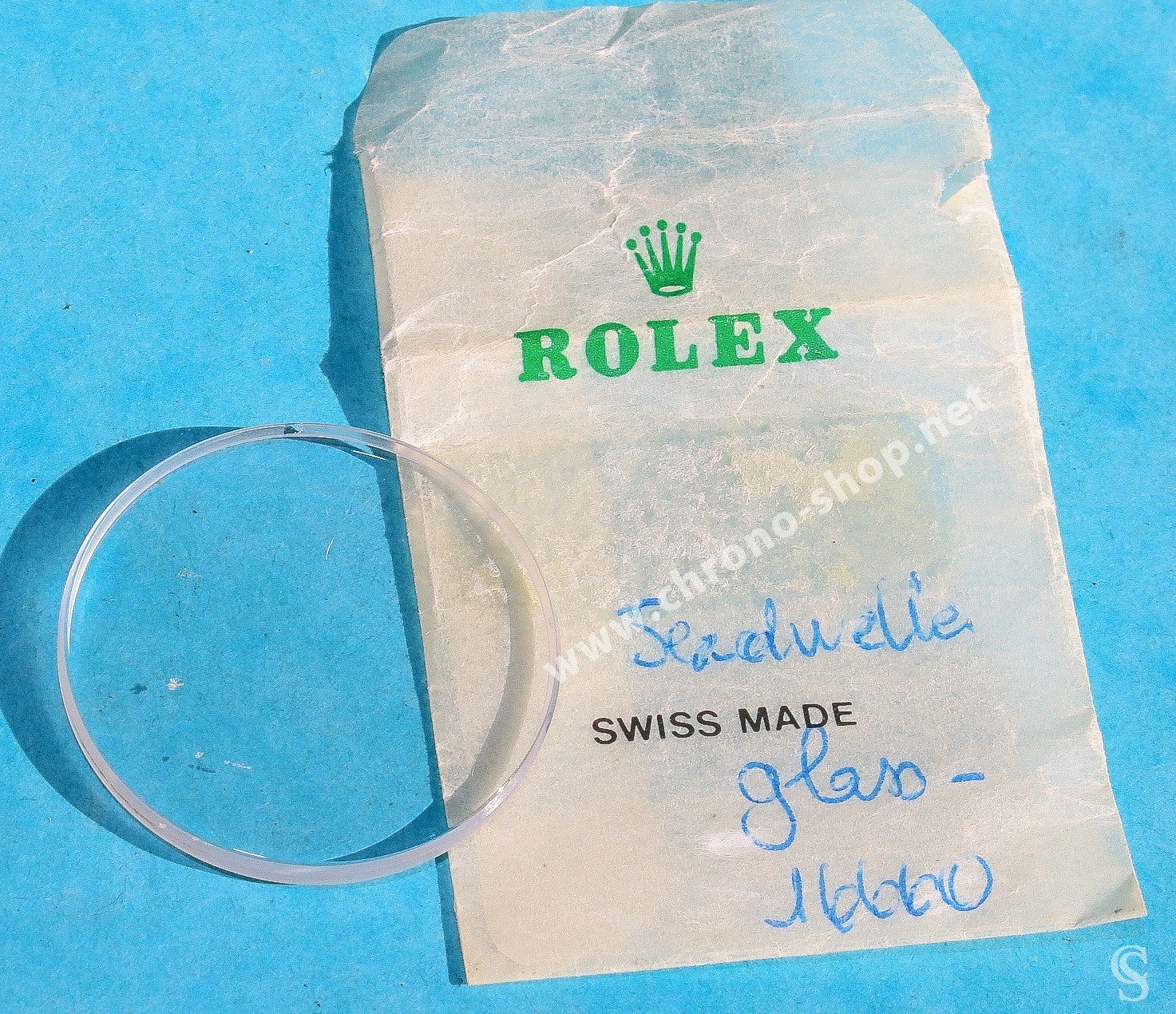 ROLEX ORIGINALE GLACE VERRE SAPHIR ref 25-285 MONTRES ROLEX SEA-DWELLER 16660, 16600