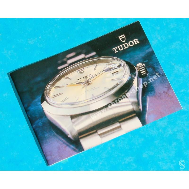 TUDOR 80's Authentique Livret Vintage Montres Submariner 94010, 94400 BIG BLOCK 94210, 94200, 94300 oyster 92400, 94500