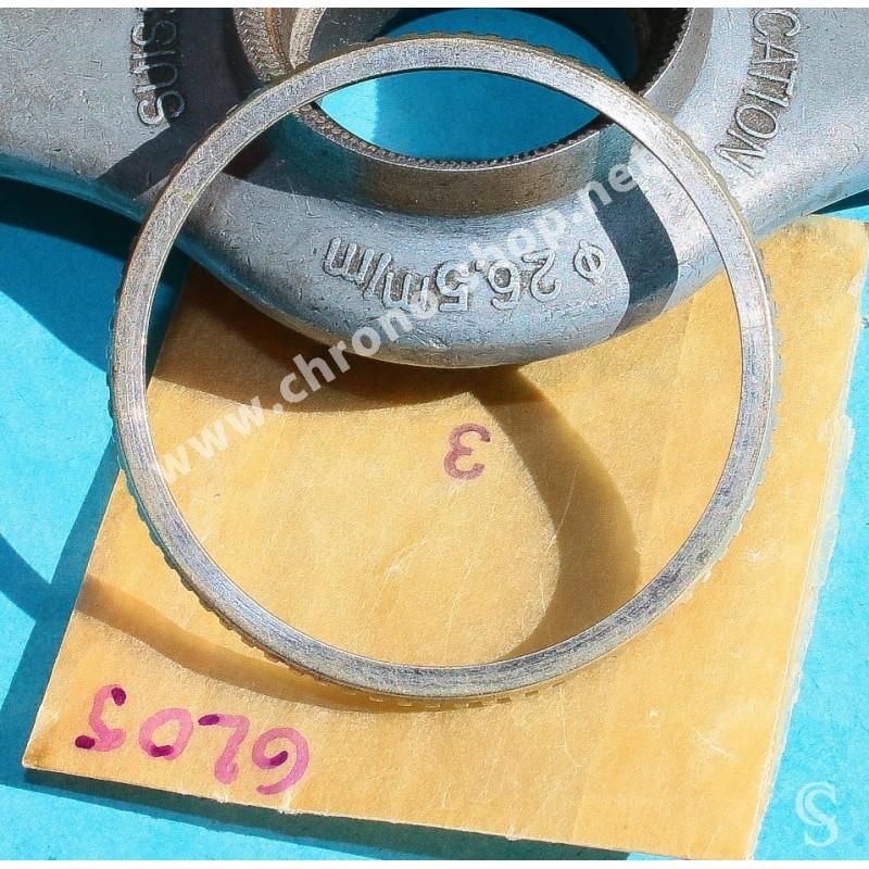 Rolex 1955 Vintage & Authentique & Rare Lunette Alloy, laiton acier Submariner 6205