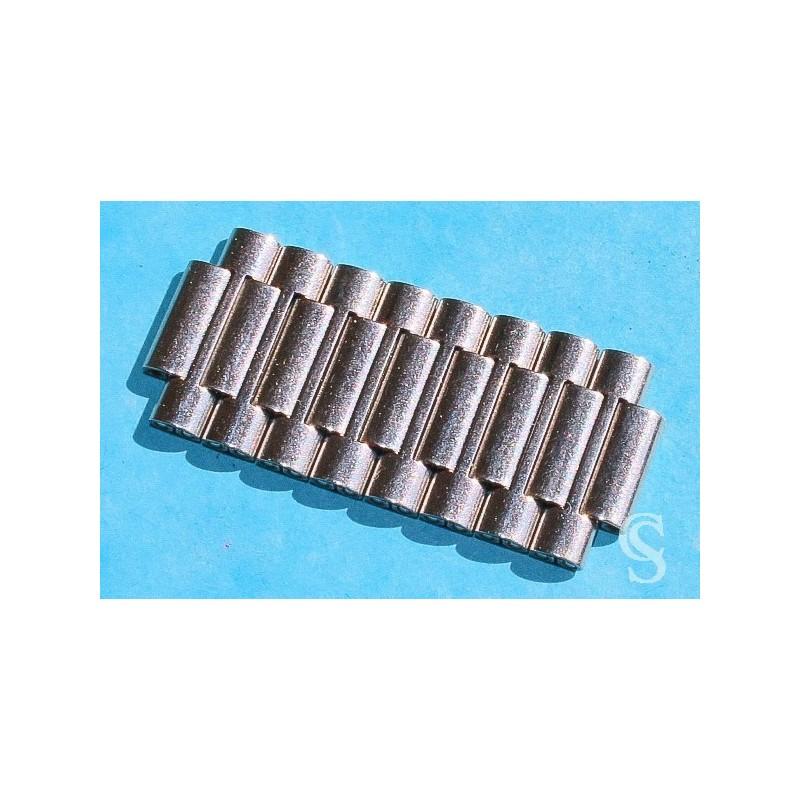 Bracelet Rouleaux Vintage Acier, Partie, brin maillons acier incurvées 18mm version pliée