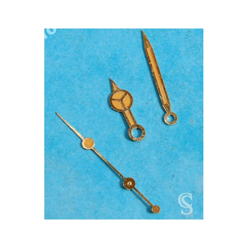 ROLEX VINTAGE SET AIGUILLES OR JANE TRITIUM MONTRES SUBMARINER DATE 16803,16808,16613,16618 couleur orange cal 3035, 3135