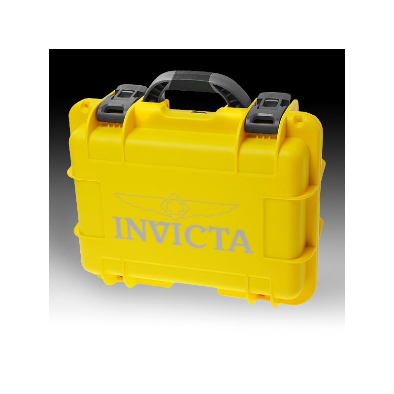 New Big Invicta Rapid Collector 8 Slot Yellow Collector Tool Watch Box Case