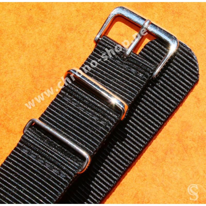 ROLEX NATO NOIR BRACELET 20mm SUBMARINER 5512,5513,1665,16660,14060,16800,16600,5514,5517,5508
