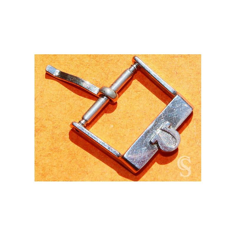 OMEGA VINTAGE BOUCLE ARDILLON MONTRES 14/16mm BIG LOGO ACIER INOX BRACELET CUIR