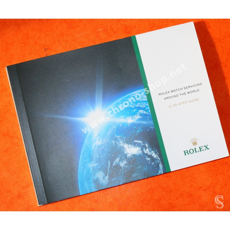 ROLEX 2014 MODERN BROCHURE SERVICE FACTORY 10 STEPS BOOKLET SUBMARINER, GMT, DAYTONA, EXPLORER WATCHES