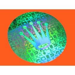 Rolex Hologramme Sticker vert 20mm Submariner, GMT, Explorer, Daytona 16610, 116520, 16710, 16700, 16760, 16570, 114270, 14060M