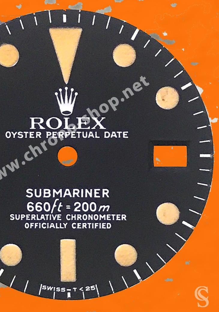 Rolex Vintage Accessoires montres Cadran Tritium T25 Mark I Submariner Date 1680 Cal 1570 MK 1 Lemrich