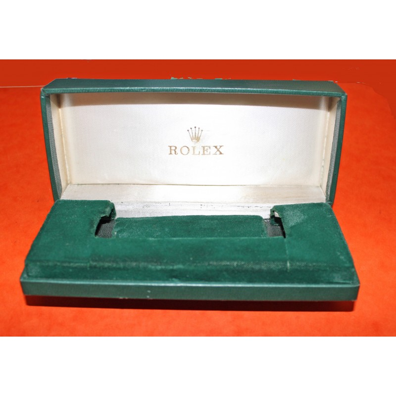 Rare Vintage Rectangle Rolex Coffin Box for Bubbleback and Early Oysters Submariner 6538, 6536, GMT 6542, Explorer 5500, 1016