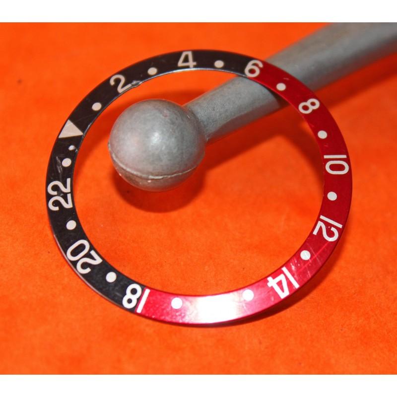 ROLEX INSERT GMT MASTER II 16700 16760 COKE patiné vintage authentique
