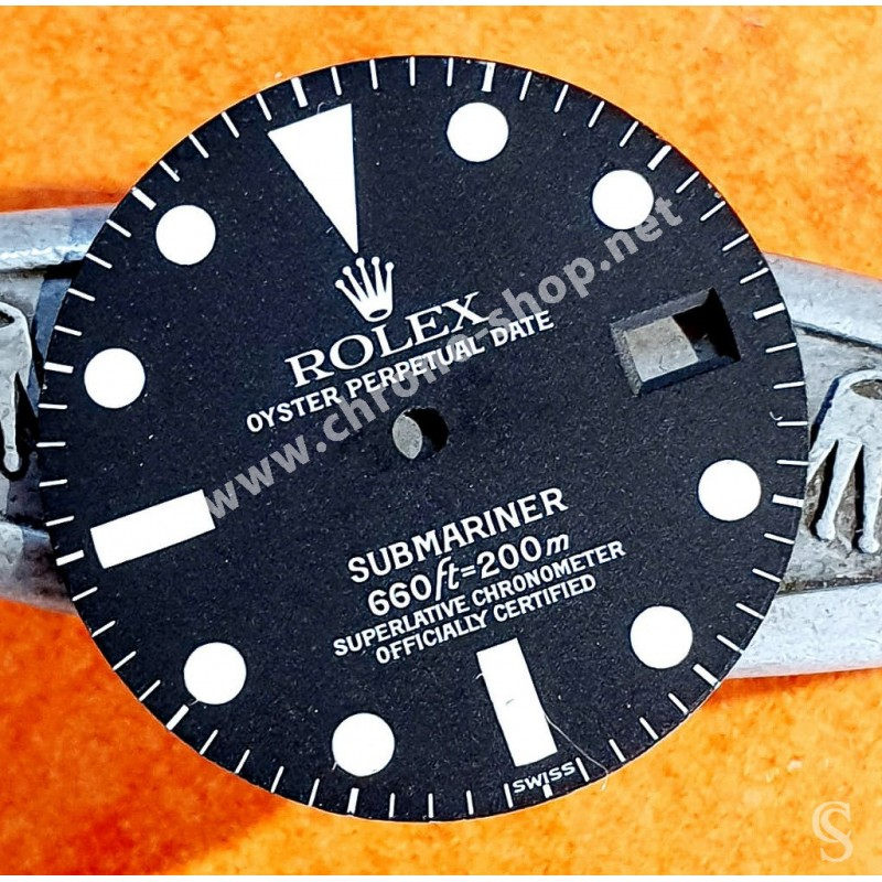♛ Rolex Rare Vintage 1680 Cadran de montres Submariner Date luminova SWISS cal 1570 automatique ♛