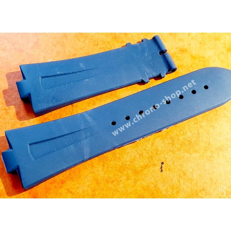 Vacheron Constantin Bracelet rubber, caoutchouc bleu montres Overseas Chronograph 49150,Dualtime 47450/b01a-9227