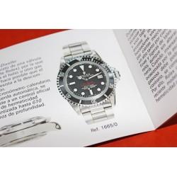 1978 ROLEX BOOKLET LIVRET SUBMARINER SEADWELLER 5513,1680,1665 ESPAGNOL