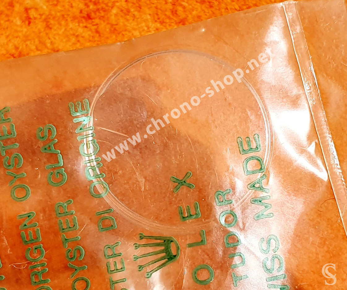 Rolex Tudor Rare Vintage Verre Acrylique Cyclope 131 plexiglas authentique & NOS montres dames