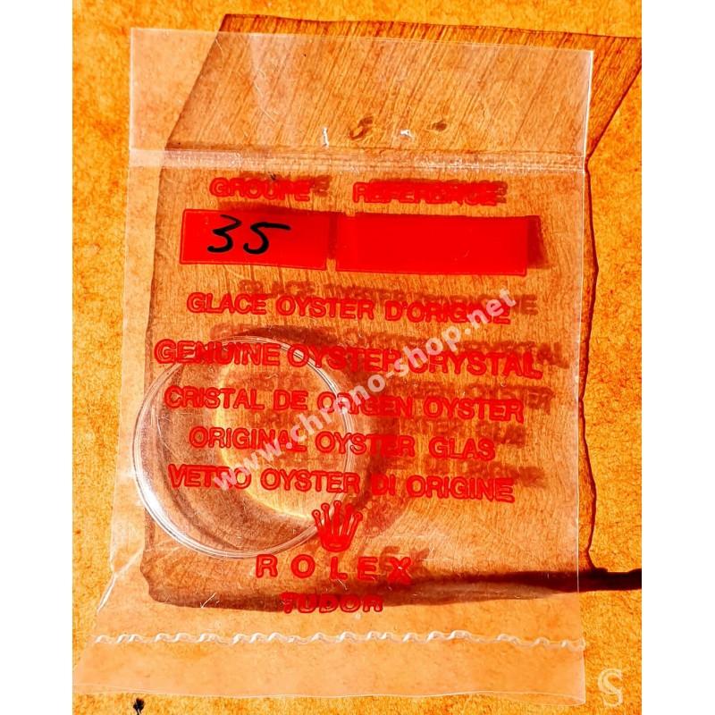 Rolex Tudor Rare Vintage Superdome Tropic 35 verre plexiglas authentique & NOS montres dames