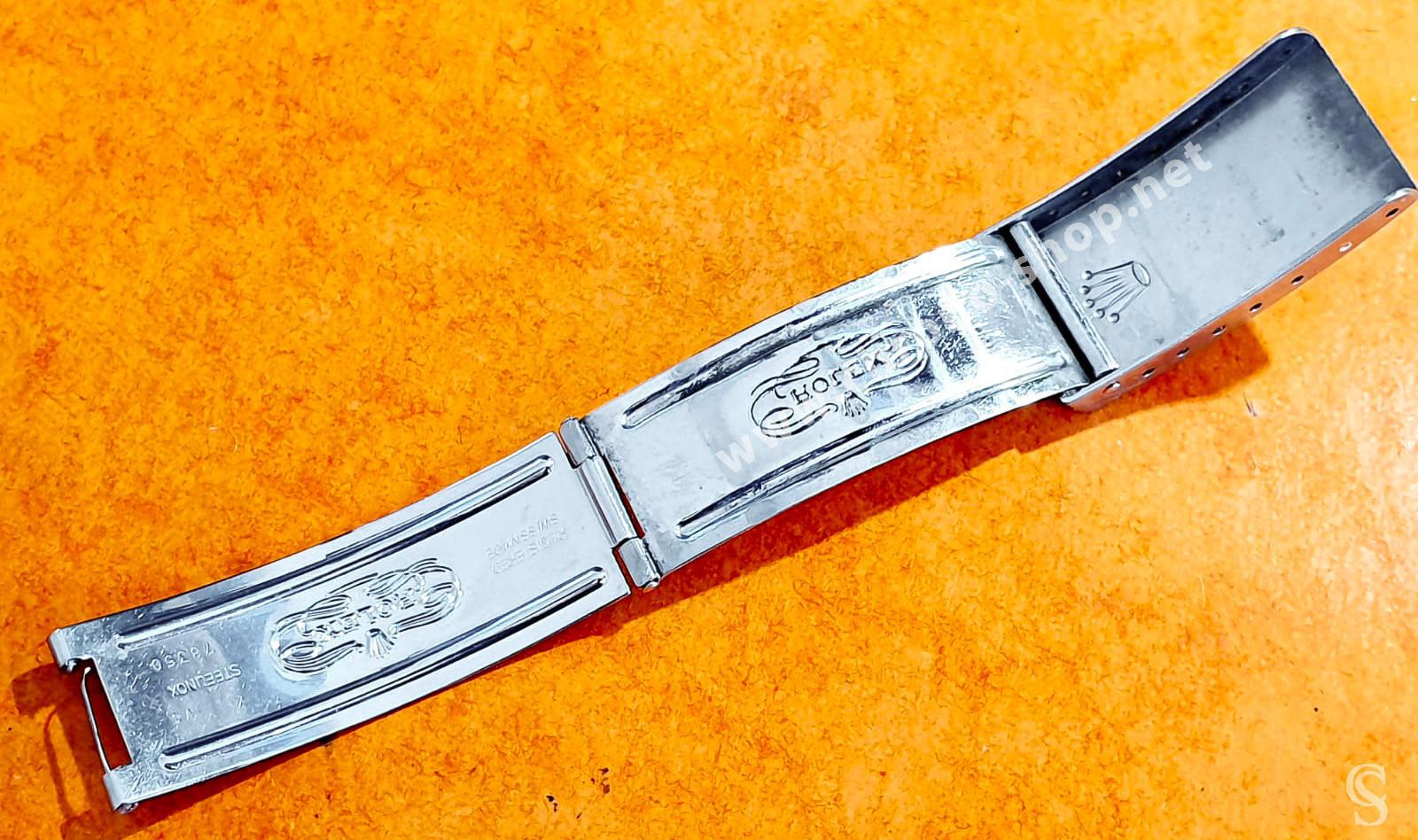 ROLEX 1996 VINTAGE FERMOIR DÉPLOYANT CODE V4 ACIER 78350 BRACELETS 19mm MONTRES OYSTER, DAYTONA 6263,6265
