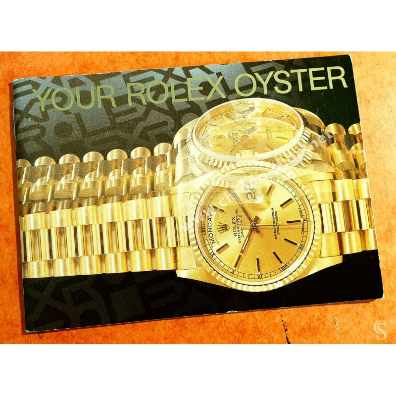 Rolex 1984 Authentic Rolex Instruction Booklet Oyster english edition Wristwatches, Datejust, Submariner, Gmt