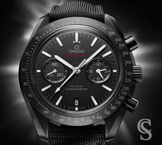 OMEGA rare Authentique Bracelet Textile, toile Noir Omega Co Axial 44.25mm DarkSide, Racing 21/18mm ref O032CWZ003216