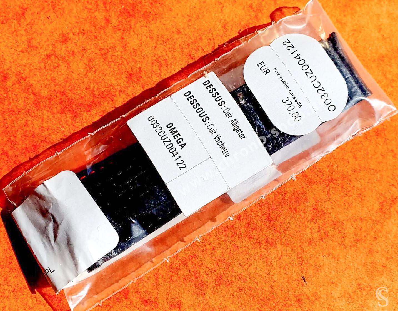 OMEGA Authentique Bracelet Cuir Alligator Noir Omega Co Axial 44.25mm Speedmaster MoonPhases, Racing 21/18mm ref O032CUZ004122