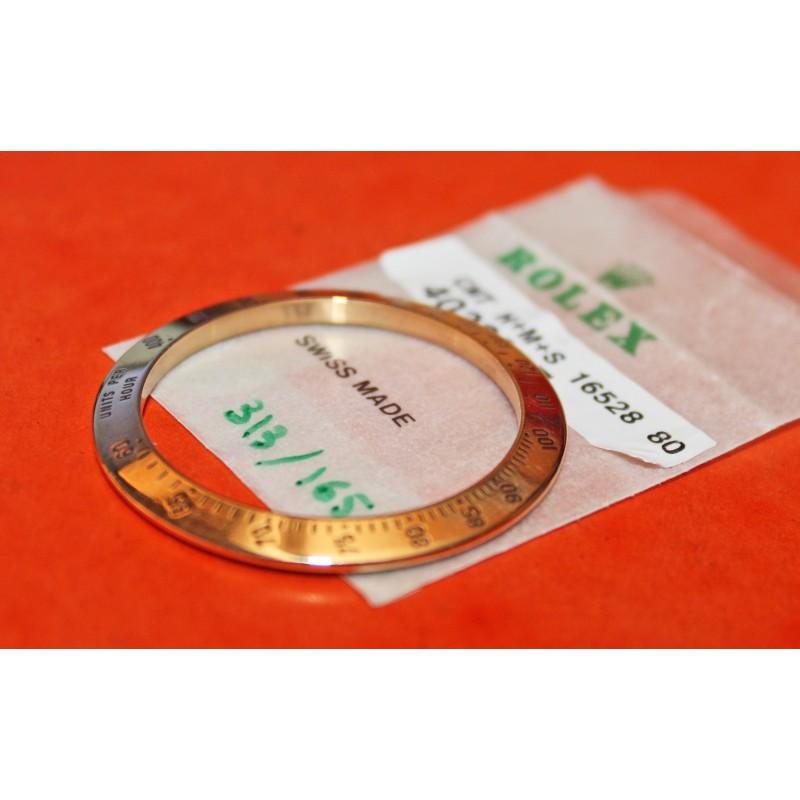 STUNNING GOLD 18 kt BEZEL ROLEX TACHYMETRE COSMOGRAPH DAYTONA  ZENITH 16528 16523 116528 116523
