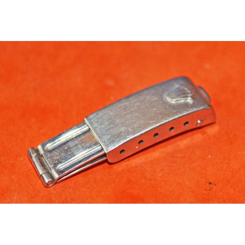 VINTAGE RARE BOUCLE DEPLOYANTE ACIER ROLEX FEMME LADY 9MM pour bracelet oyster / jubilee 11mm