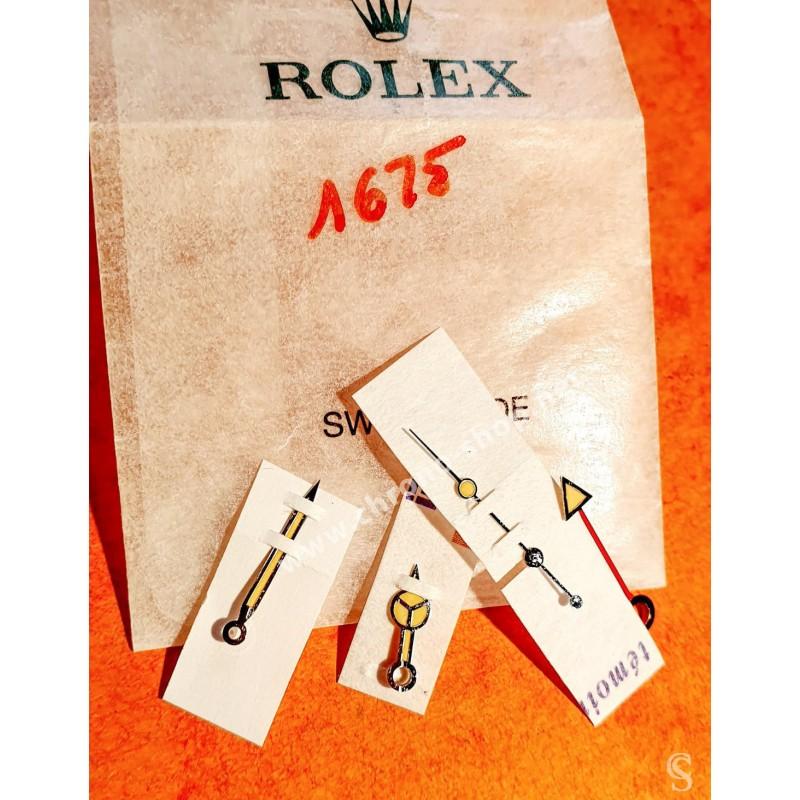 ROLEX CREAMY YELLOW ORIGINAL GMT MASTER 1675 TRITIUM HANDS SET WATCH SUBMARINER MERCEDES Cal 1575,1570,1565,1560