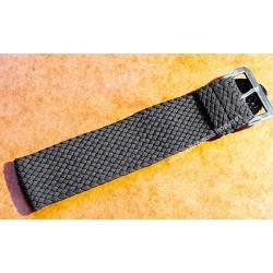 Vintage bracelet Nato Perlon tressé marron 22mm boucle ardillon Montres IWC, Breitling, Panerai, Rolex