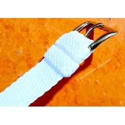 Vintage bracelet Nato Perlon tressé blanc 20mm boucle ardillon Montres IWC, Breitling, Panerai, Rolex