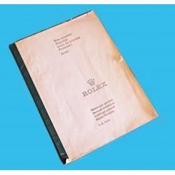 VINTAGE 1974 LIVRET CATALOGUE ROLEX PRIX 5513, 1655, 1675, 6263, 6241, 1019, 1016, 16808, 5500