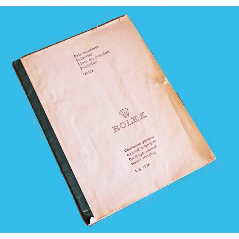 Vintage ROLEX Price List 1974 Precios Prix Prezzi OYSTER PERPETUAL Retail Prices 5513, 1680, 1675, 1655, 6263, 6265
