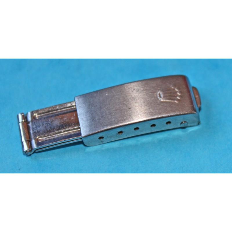 VINTAGE 1971 RARE BOUCLE DEPLOYANTE ACIER ROLEX FEMME LADY 9MM pour bracelet oyster rivets / jubilee 11mm